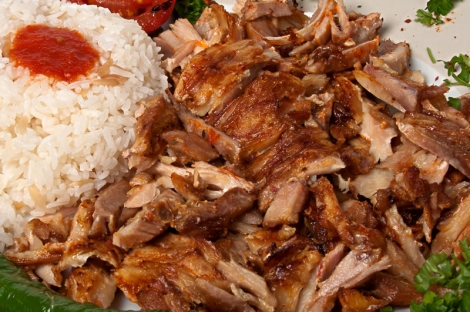 Chicken Shawarma or gyros platter