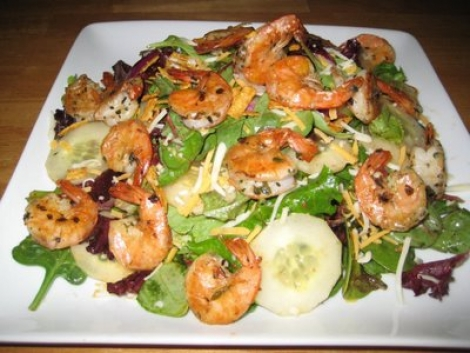 Sauteed Shrimp Salad